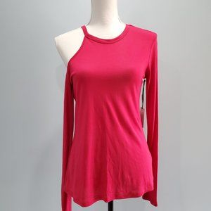 1. State NWT One Cold Shoulder Red Top P045